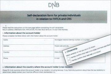 Nordmenn mottar bankbrev